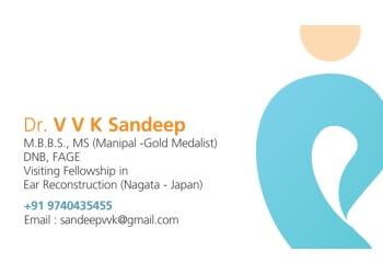 Dr. VVK Sandeep, MBBS, Ms, DNB, FAGE - SRI VIJAYA ENT HEAD & NECK CENTRE