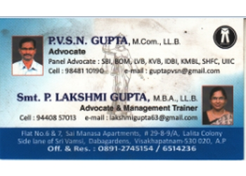 P.V.S.N. Gupta & P. Lakshmi Gupta
